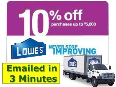 One1x Lowes 10 Off Discount Savings- expires 01312019 gs