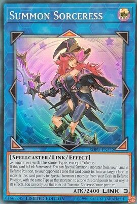 Yugioh Summon Sorceress - SOFU-ENSE2 - Super Rare - Limited Edition Near Mint