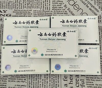 NEW Authentic 5 Boxes Yunnan YNBY Baiyao 5x1680 Capsules First Aid US SHIPPING