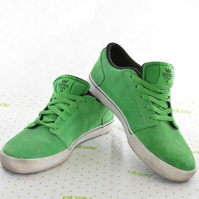 SUPRA Mens Size 11 Green Suede Leather Skate Shoes