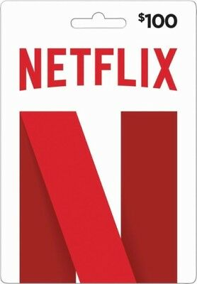 100 Netflix GiftCards  Email Delivery  USA Only DISCOUNTED
