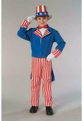 Child Uncle Sam Costume 4th of July Independence Day Patriotic Medium