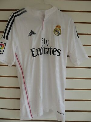 ADIDAS REAL MADRID WHITE JERSEY SIZE S