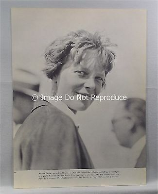 Clipping Photo Page Ad  Amelia Earhart  Woman Pilot