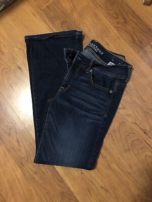 AE AMERICAN EAGLE OUTFITTERS KICK BOOT STRETCH WOMENSJEANS SIZE 8