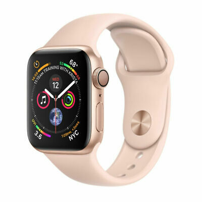 Apple Watch Series 4 40 mm Gold Aluminum Case with Pink Sand Sport Band GPS