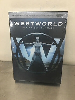 Westworld The Complete First Season 1 DVD 2017 3-Disc Set  New- Sealed