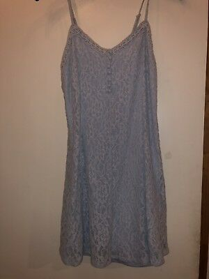 Forever 21 Baby Blue Lace Dress NWT Medium