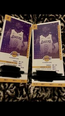 Lakers vs Phoenix Suns 12719 Staples Center Section 219 Row 7 Seat 3 - 4