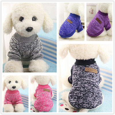 TRENDY PET SMALL DOGS SOFT SWEATER CHIHUAHUA PULLOVER CLOTHES OUTFIT CLOTHING