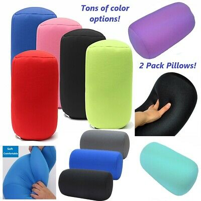 2 Pack Micro Bead squishy hypoallergenic post surgery roll pillows- Two Pillows