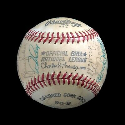 ALL-STAR GAME AUTOGRAPHED NATIONAL LEAGUE BASEBALL WITH TONS OF HALL OF FAMERS-