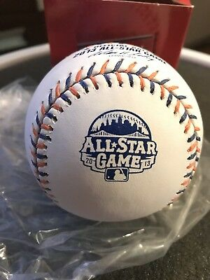 LOT OF 4 Rawlings 2013 All Star Game Official MLB Game Baseball NY Mets w Box