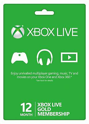 12 Month Xbox Live Gold Membership VPN NEEDED READ DESCRIPTION Quick Delivery