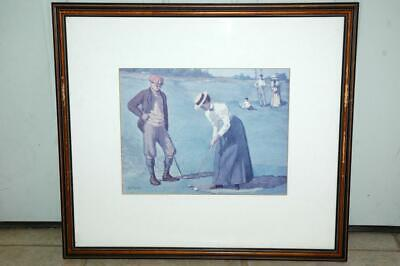 A B Frost On the Green Golf Print 13x1022x20 Framed