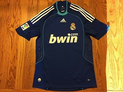 Blue adidas Real Madrid Soccer Jersey Mens S Small