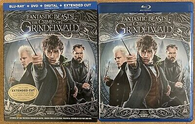 FANTASTIC BEASTS THE CRIMES OF GRINDELWALD BLU RAY DVD 2 DISC - SLIPCOVER SLEEVE