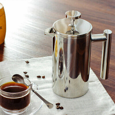 350ML 800ML DOUBLE WALL STAINLESS STEEL FRENCH PRESS COFFEE POT TEA MAKER