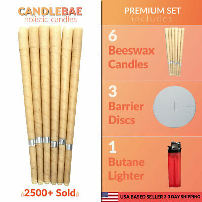 Candlebae Wax – 6 Pack Hollow Beeswax Candle Cone – Ear Oil Candles Cleaner USA