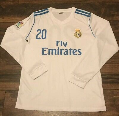 REAL MADRID LALIGA FLY EMIRATES 20 LS SOCCER FOOTBALL JERSEY SZ M