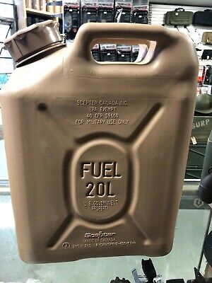NEW Scepter FUEL CAN MILITARY 20Liter 5-4 Gallon