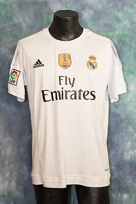 REAL MADRID FC ADIDAS CLIMACOOL FLY EMIRATES JERSEY MENS FIFA 2015  LARGE