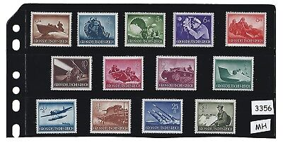 MH Stamp set  Third Reich  Nazi Germany  Military  Armed forces  1944  MH