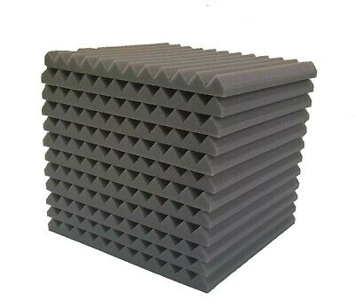 12x12x1 Wedge Acoustic Foam Soundproof Wall Record Studio Panel Tile GR
