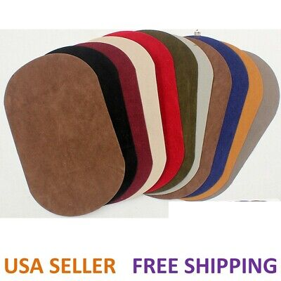 Suede Leather Iron-on Oval Elbow Knee Patches DIY Repair Sewing Applique USA