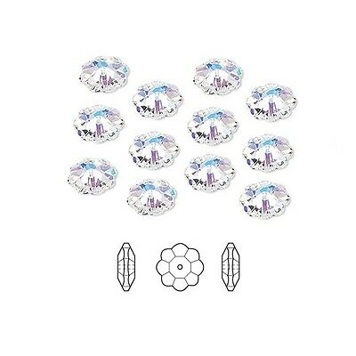 12 Swarovski Crystal Beads Faceted Marguerite Flower 3700 12x4mm