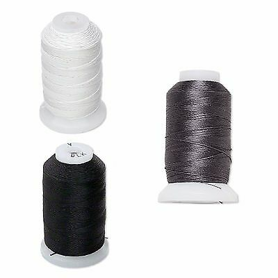 Purely genuine silk thread size A B C O OO color white black and dark grey-