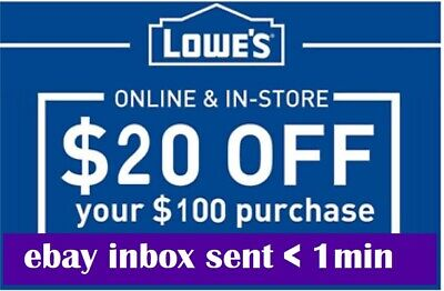 Three 3x Lowes 20 OFF 100Coupons-InStore and Online -Fast-SENT-1-min-