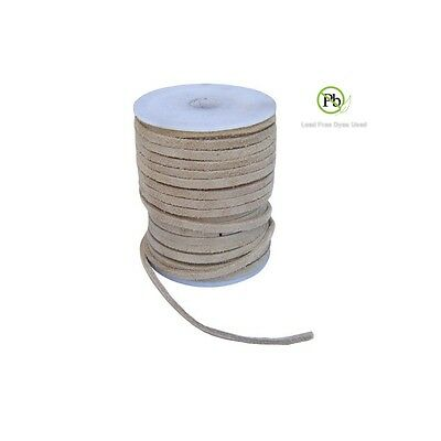 Genuine Suede Leather Lace Suede Flat Leather Cord 3x1-7mm 10 Yard Section