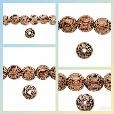 16 inch strand coconut palm wood round beads 4 to 20mm coconut beads-