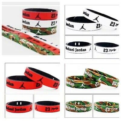 NBA PLAYERS Silicone Wristband Adjustable Bracelet Durant Curry Lebron MJ