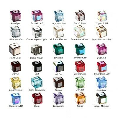 12 Swarovski® Crystal faceted cube 4x4mm Beads 5601- 12 faceted cube 5601-