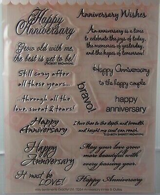 NEW My Sentiments Exactly Clear Stamps TT254 Anniversary Innies and Outies