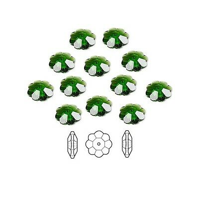 12 Swarovski Crystal Beads Faceted Marguerite Flower 3700 8x3mm
