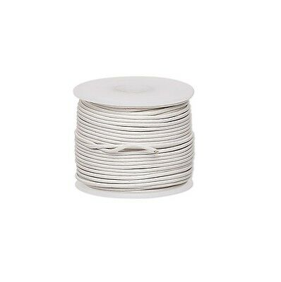 Genuine Round Leather Cord White 1mm 25 yards