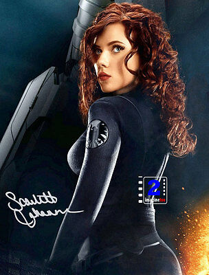 Scarlett Johansson Black Widow 8x 10 Sexy Signed Color PHOTO REPRINT