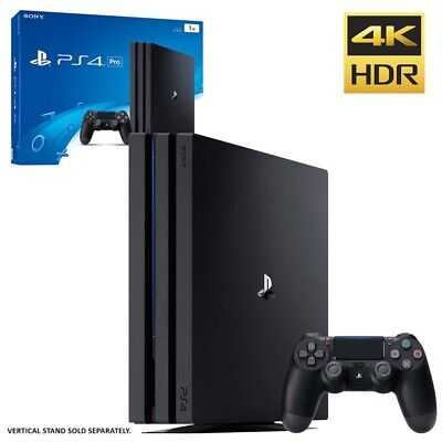 BRAND NEW SEALED Sony PlayStation 4 Pro Game console 4K HDR 1 TB HDD Jet Black