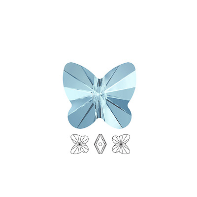 12 Swarovski Crystal Beads Faceted Butterfly 5754 6x5mm 12 Butterfly 5754 6x5mm