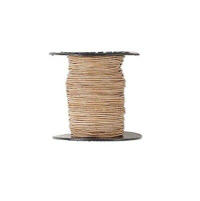 Genuine Round Leather Cord Natural 1mm 25 yards