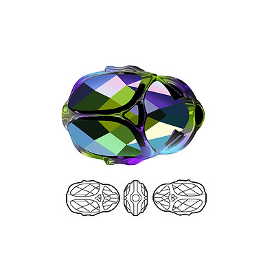 1 Swarovski Crystal Bead Faceted Scarab 5728 12x8mm 1 Scarab 5728 12x8mm