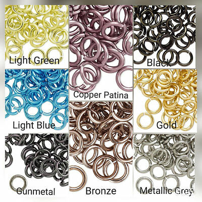 100 Jumprings round anodized aluminum 6mm 18 gauge Jumpring anodized aluminum-