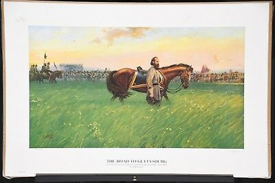 Limted Edition Civil War signed print The Road to Gettysburg by Dale Gallon