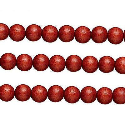 Wood Round Beads Rust Brown 6mm 16 Inch Strand