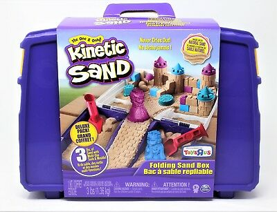 Kinetic Sand Folding Sand Box 3 lbs Sand - Toy Molds - Sensory Art Toys R Us NEW