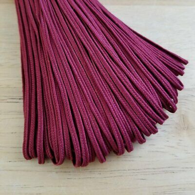 Turkish Soutache Cord 2-6mm Width Red Wine