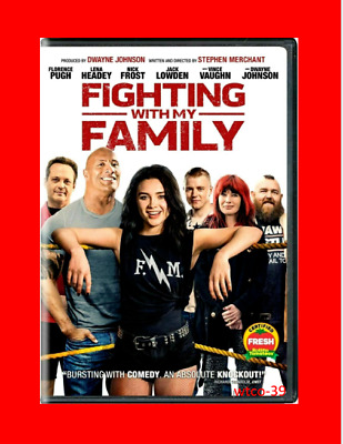Fighting with My Family DVD 2019 NEW-Dwayne Johnson- FREE SHIPPING